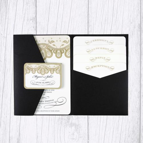 Invitation with pocket folder