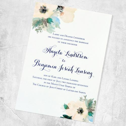 Single Side Invitations